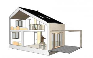 3D-model A-tussenwoning
